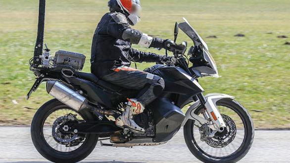 KTM 790 Adventure S variant spied testing