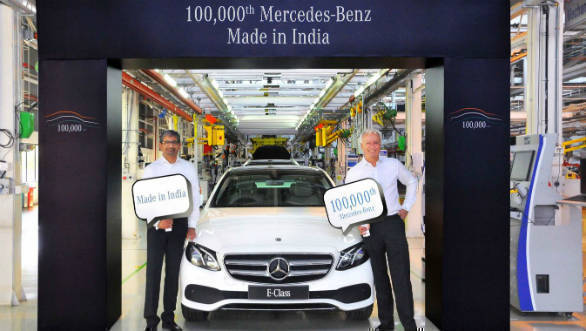 Mercedes-Benz crosses 100,000-unit production milestone in India