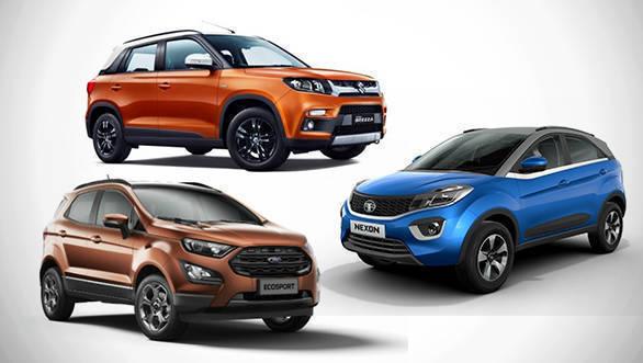 Price comparison: 2018 Tata Nexon AMT vs Maruti Suzuki Vitara Brezza AGS vs Ford EcoSport S