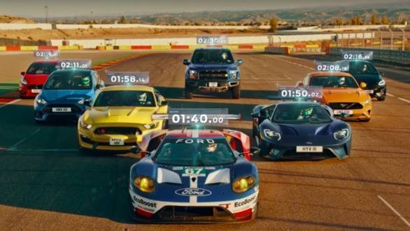 Video worth watching: Ford Performance models on a race track