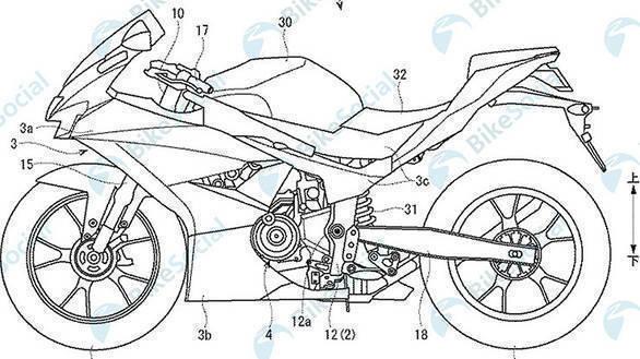 Inazuma-based Suzuki GSX-R300 patent leaked
