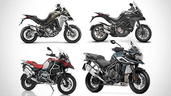 Spec comparo: Triumph Tiger 1200 vs Ducati Multistrada 1260 vs Ducati Multistrada Enduro vs BMW R 1200 GS Adventure Pro vs BMW R 1200 GS Pro