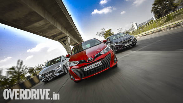 Comparison test: Toyota Yaris MT vs Honda City MT vs Hyundai Verna MT