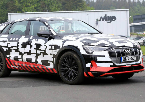 Production-spec Audi E-Tron all-electric SUV seen testing in camouflage