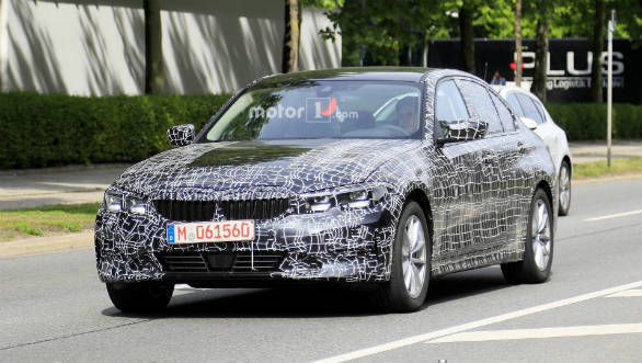 Next generation BMW 3-series spotted testing again with less camo