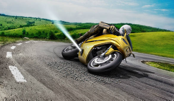 Video: Watch the Bosch jet-thruster system prevent a motorcycle crash