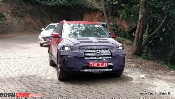 2018 Hyundai Creta facelift spotted testing in camouflage