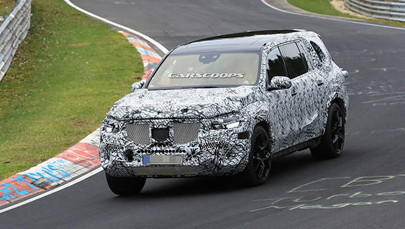 Next-gen Mercedes-Benz GLS SUV spotted testing at Nurburgring, will debut later in 2018