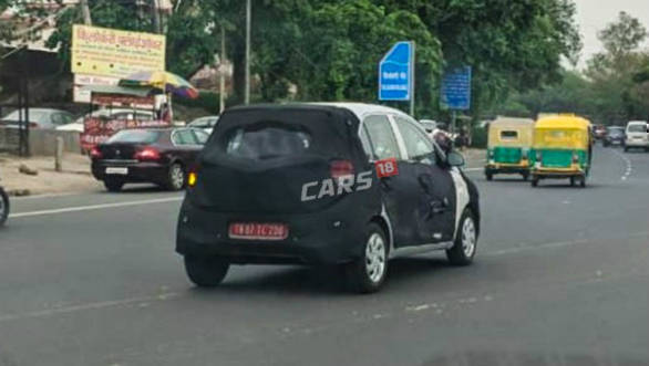 Upcoming new-gen Hyundai Santro spotted testing in camouflage again
