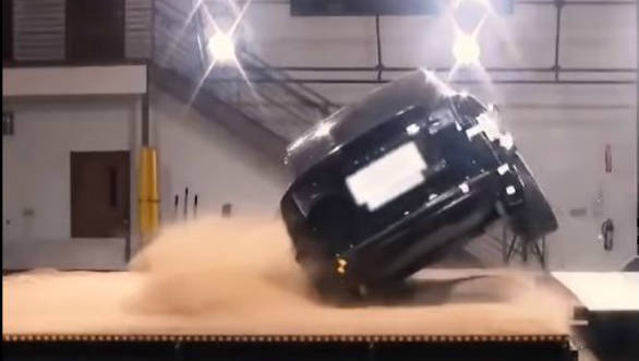 Video worth watching Tesla Model X rollover test