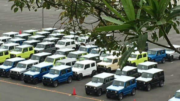 Next-gen 2018 Suzuki Jimny spotted at company plant in Japan