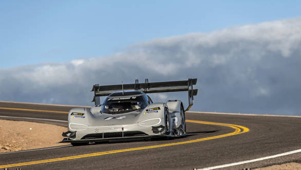 Volkswagen I.D. R all-electric racecar breaks Pikes Peak Hill Climb record