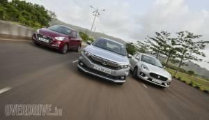 Comparison test: Honda Amaze vs Maruti Suzuki DZire vs Hyundai Xcent