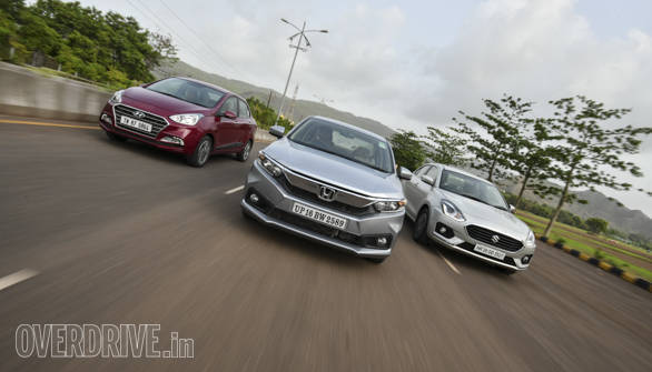 Comparison test: Honda Amaze vs Maruti Suzuki DZire vs Hyundai Xcent