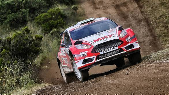 WRC 2018: Successful first outing for Gaurav Gill and Team MRF at Rally Sardinia
