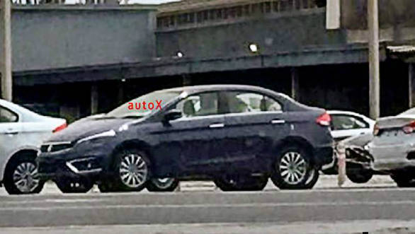 Upcoming Maruti Suzuki Ciaz facelift spotted without camouflage