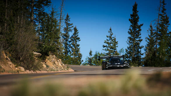 Volkwagen I. D. R Pikes Peak racer completes first test on location in Colorado