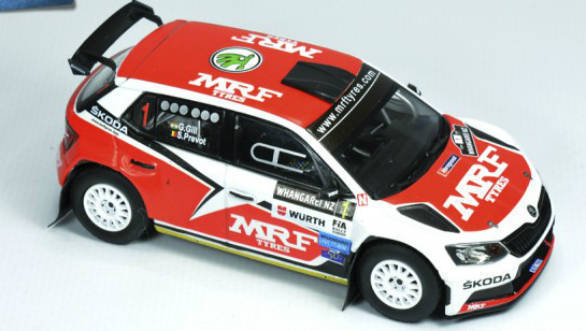 Gaurav Gill's 2017 Team MRF Skoda Fabia R5 immortalized in scale model form
