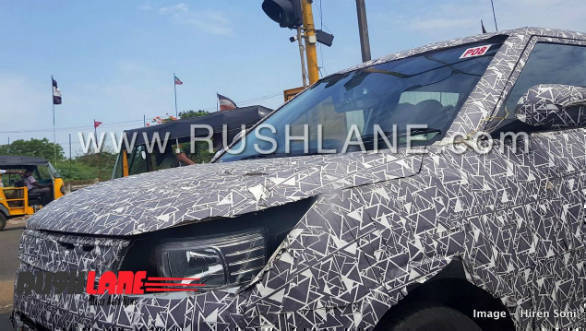 Mahindra S201 sub-four meter SUV test mule spotted