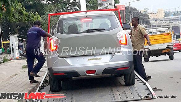 Mahindra's sub-4m Maruti Suzuki Brezza rival spotted at a dealership in India