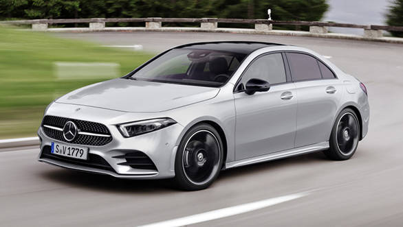 image gallery 2019 mercedes benz a class sedan revealed for the us overdrive. Black Bedroom Furniture Sets. Home Design Ideas