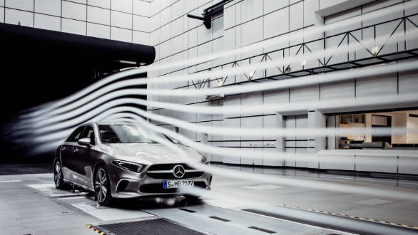 New Mercedes-Benz A-Class sedan has an ultra-low drag coefficient of 0.22 Cd