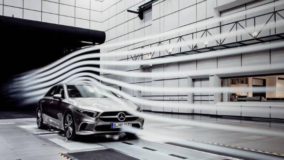 New Mercedes Benz A Class Sedan Has An Ultra Low Drag Coefficient Of   Cd
