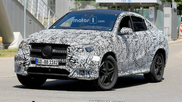 Next generation Mercedes-Benz GLE-Class coupe SUV spotted testing