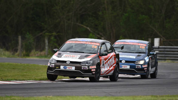 2018 VW Ameo Cup: Sourav Bandyopadhyay wins opening race of Round 2 at MMRT