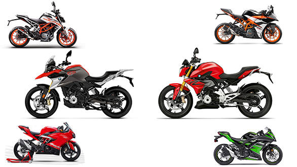 Price check: BMW G 310 R vs BMW G 310 GS vs KTM 390 Duke vs KTM RC 390 vs TVS Apache RR 310 vs Kawasaki Ninja 300