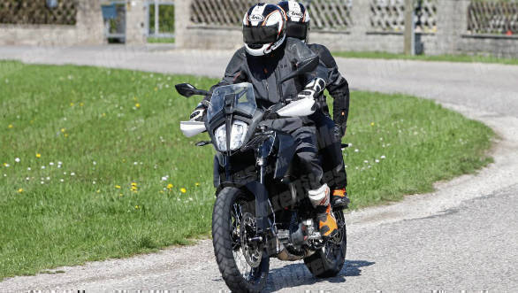New spy shots: KTM 390 Adventure rear seat and pillion details spotted