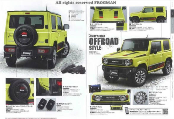 suzuki jimny accessories brochure reveals customization