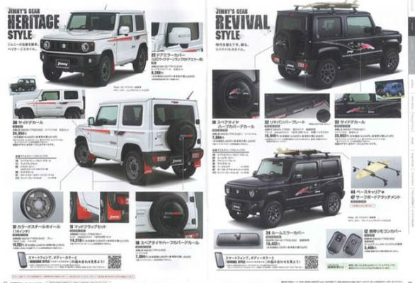 Nuovo Suzuki Jimny 2018 >> Suzuki Jimny accessories brochure reveals customization options - Overdrive