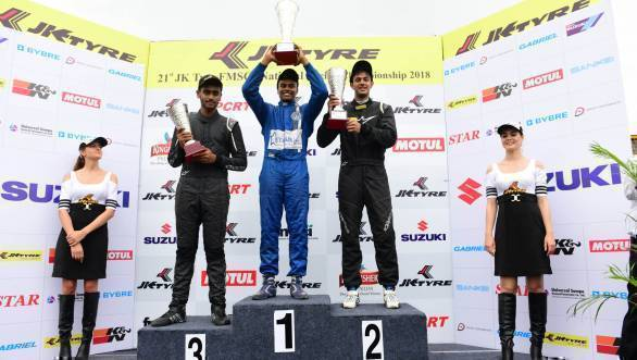 2018 JK Tyre FMSCI National Racing Championship: Bryan Perera dominates proceedings in top-tier Euro JK 18 class