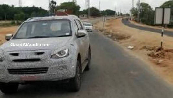 Isuzu MU-X facelift spied testing in India, launch likely in early 2019