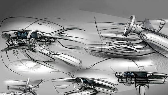 2019 Mercedes-Benz GLE-Class SUV interior sketches revealed