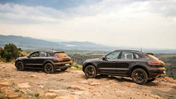 2018 Porsche Macan SUV facelift teased during high-altitude testing