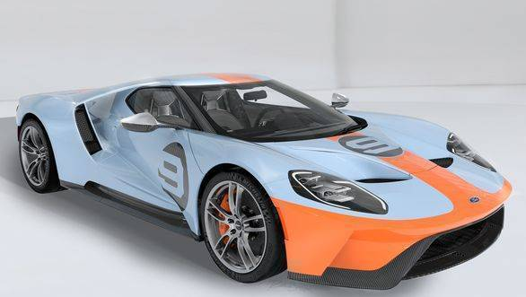 Ford GT '68 Heritage edition with retro Gulf Oil livery celebrates 50 years of Le Mans wins