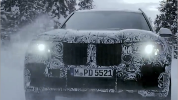 BMW X7 flagship SUV shows its off roading capabilty in new teaser