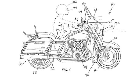 Harley-Davidson patents an automatic braking system for motorcycles