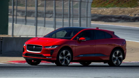 Jaguar I-Pace electric SUV sets production lap record for EVs at Laguna Seca