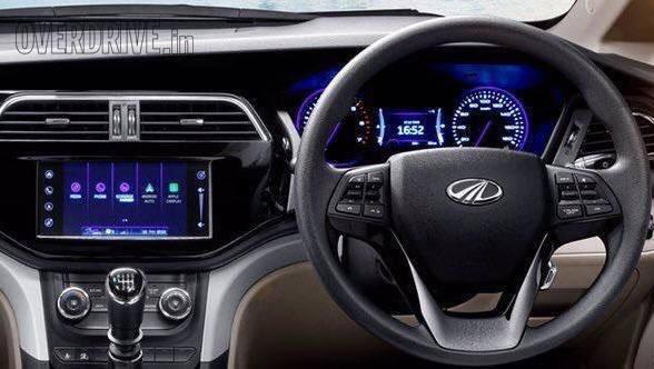 2018 Mahindra Marazzo dashboard revealed, to get CarPlay and Android Auto connectivity options