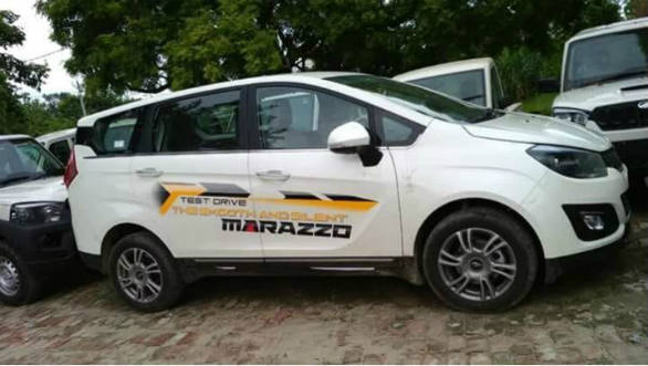 Mahindra Marazzo MPV spotted undisguised ahead of September 3 launch