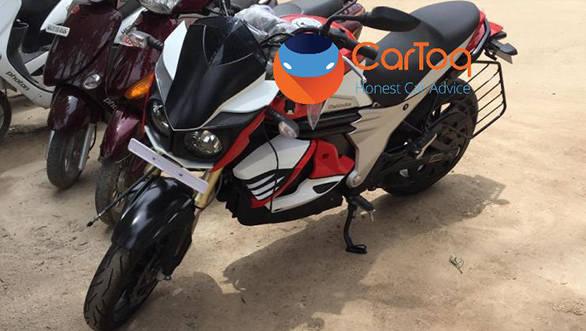 Is that a Mahindra Mojo electric bike?