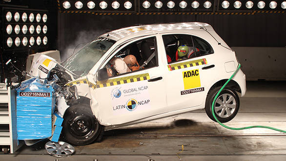 Nissan March (Micra) scores one star in Latin NCAP crash test