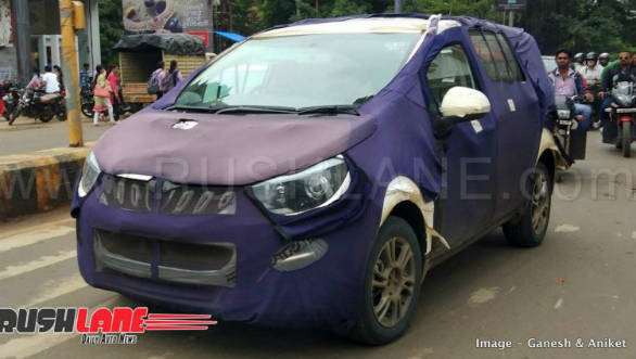 Upcoming Mahindra Marazzo eight seater variant spotted testing in camouflage