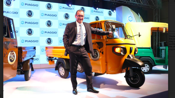 2.5 millionth Piaggio small commercial vehicle rolled out of the Baramati plant