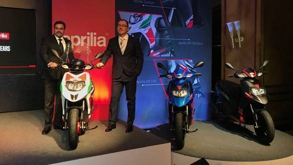 Piaggio launches updated Aprilia SR150, Vespa and mobile connectivity app