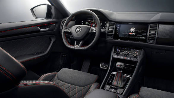 Skoda Kodiaq RS interiors revealed ahead of Paris Motor Show debut