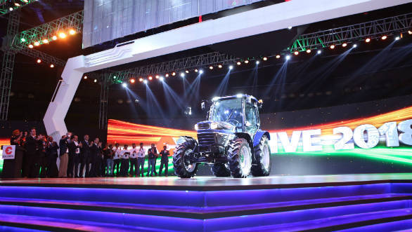 Escorts group showcases India's first automated tractor concept